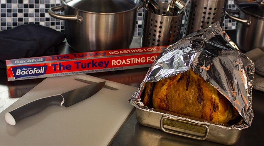 Foil Tent Roasted Turkey Bacofoil