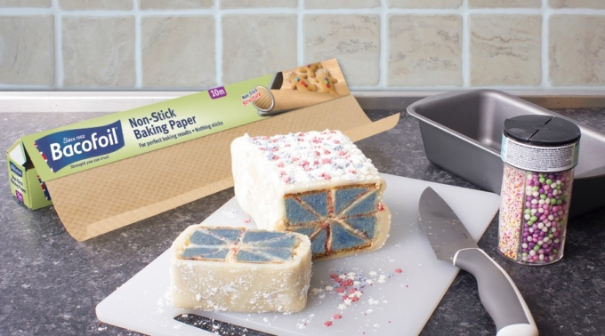 Bacofoil®Union Jack Battenberg Recipe